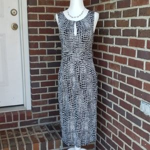 NWOT Kenneth Cole Black & White Sheath Dress Sz S